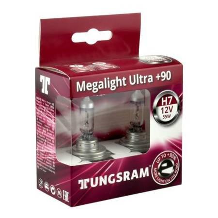 Żarówka H7 Tungsram MegaLight Ultra Plus 90% - 2szt