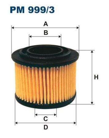 Filtr do instalacji gazowych  PM 999/3 - BRC
