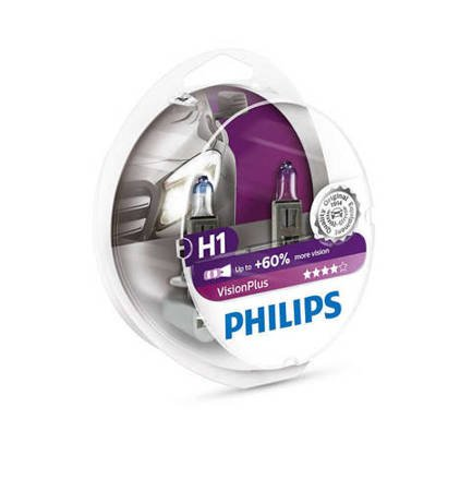 H1 Philips VisionPlus +60%  BOX 2szt