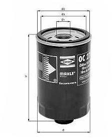Knecht filtr oleju OC248 -  Fiat 2,5D 86->