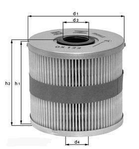 Knecht filtr oleju OX380D -  MB E-klase/V-klase 05-