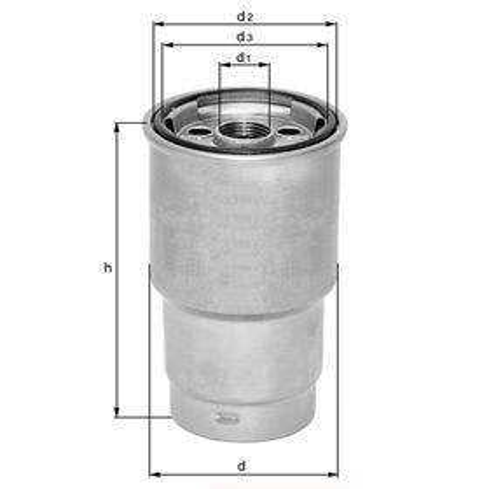 Knecht filtr paliwa KX68D - DB W115 OM615/616 -76, OM 352