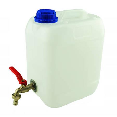 Pojemnik plastikowy na wodę z kranem metalowym - 10  L