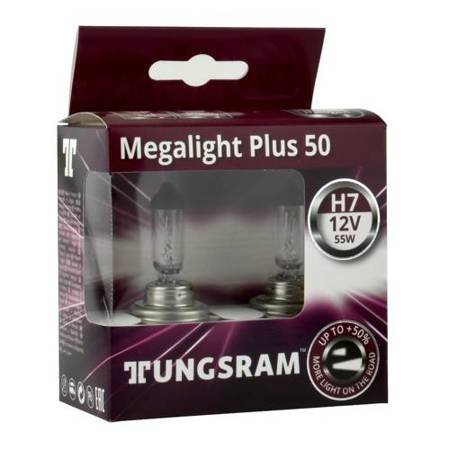 Żarówka samochodowa H7 Tungsram MegaLight Plus 50% - 2szt